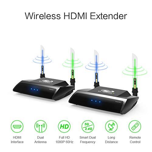 A24 100m 2.4G 5.8G HDMI AV Wireless Audio Video Sender Empfänger Loop Out 1080p Video-audio Sender