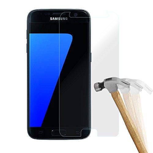 wortek 2 X Premium Schutzfolie Samsung Galaxy S7 Panzerglas 9H Schutzglas Set (Glas bewusst Kleiner als sichtbares Display!)