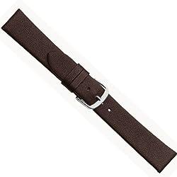 Herzog Design I Ersatzband Uhrenarmband Kalbsleder Band Dunkelbraun 20521S, Stegbreite:18mm