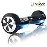 Windgoo Hoverboard 6.5' Patineta Scooter eléctrico Self-Balance,Led Luces, Monopatín eléctrico (N1-BL-Pink)