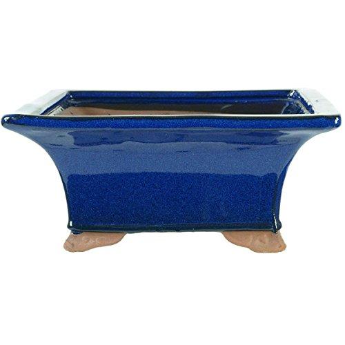 pot-a-bonsai-23x23x95cm-bleu-carree-en-gres-emaille