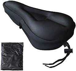 Yhcean Gemütlich Gel Bike Sitzbezug Bike Sattelbezug mit Schwarz Waterproof Saddle Cove (Schwarz) Fahrradsitz