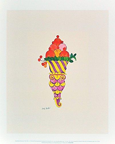 Andy Warhol Ice Cream Dessert c.1959 (fancy red) Poster Kunstdruck Bild 36x28cm - Germanposters (Andy Warhol Ice Cream)
