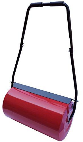 dirks-traumbad Rasenwalze mit Wasser befüllbar Rasenroller Gartenwalze Handwalze Garten mit Griff Boden Rasen Metall Walze Rolle Gras Rot