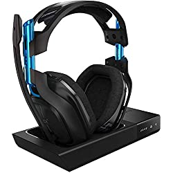 ASTRO Gaming, casque sans fil A50 + station d'accueil 3e Génération avec son surround Dolby 7.1 - Compatible Playstation 4, PC, Mac - Noir/Bleu