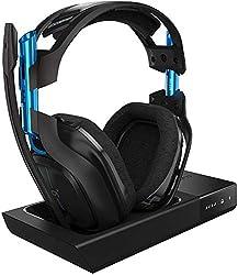 ASTROGamingA50 Headset (kabellos) + Basisstation (3. Generation) mit Dolby 7.1SurroundSound(kompatibel mit PlayStation4, PC, Mac) schwarz/blau