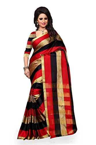 red Color cotton silk Fabric Saree, New Arrival Latest Best Choice and...