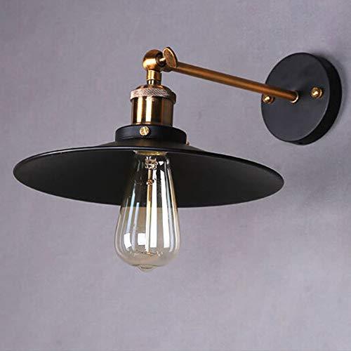 Preisvergleich Produktbild YHSGD Wandleuchte LED Retro Industrie Schmiedeeisen Wohnzimmer Lampe E27 Sockel für Schlafzimmer Wohnzimmer Studie Beleuchtung, Black, 26cm