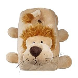 Y-BOA–Boîte à mouchoirs mignon Lion Peluche Thème 30x 10x 10cm Marron clair