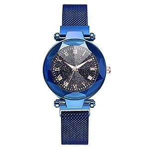 Bloodfin Classic Damen Uhren -konvexen Glas Armbanduhr Elegant Quarzuhr Uhr für Mädchen Frau Frauen mit Leder Casual Armband magnetverschluss Armbanduhren Uhren Geschenk