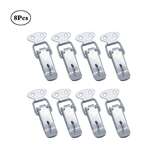 Concisea 8 Stück Hebelverschluss mit Schlossloch Abschließbar Edelstahl Spannverschluss für Case Box,Toolbox,Schublade,Schrank,Truhe