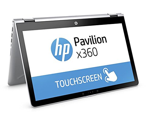 HP Pavilion 15-br014na 15-Inch FHD Touch Screen Convertible Laptop - (Intel i3-7100U 2.4 GHz, 8 GB RAM, 1 TB HDD, Intel HD 620 Graphics, Windows 10 Home) - Natural Silver