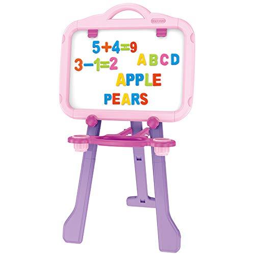DUYANGANG Kinder Staffelei Graffiti Doppelseitige Magnetische Halterung Blackboard,Pink