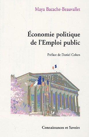 Economie politique de l'Emploi public