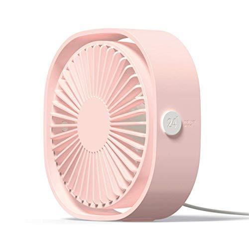 KOUQI Tragbarer Mini-Tischventilator, leistungsstarker, leiser Turbolüfter mit Luftumwälzung, 360-Grad-Drehung und Einstellbarer 3-Gang-Drehzahl, für Heim-, Büro- und Außenreisen,Pink -