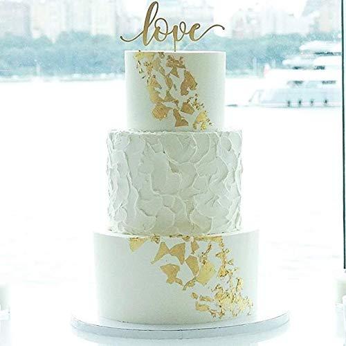 chzeitstorte Topper, Tortenaufsatz für Hochzeit, Trending Cake Topper, Gold Hochzeit Dekor, Roségold Hochzeit Dekor ()