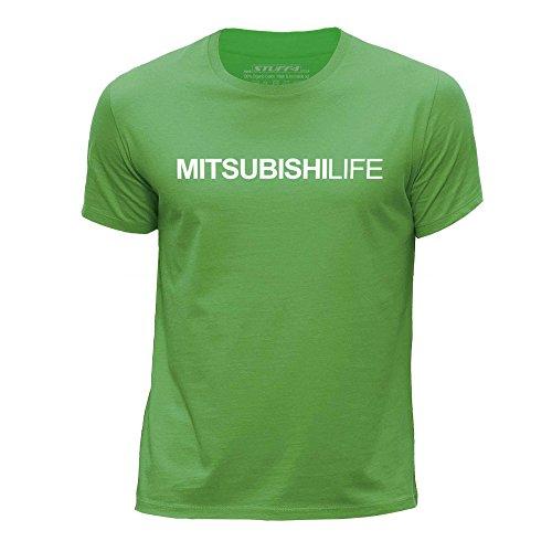 STUFF4 Jungen/Alter 3-4 (98-104cm)/Grün/Rundhals T-Shirt/Auto Leben / Liebe Mitsubishi