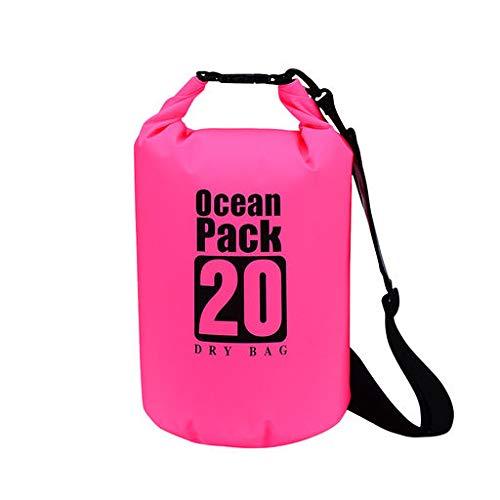 Beisoug PVC-Beutel trocken wasserdichter Sack Ocean Pack schwimmendes Bootfahren Kajakfahren Camping 20L