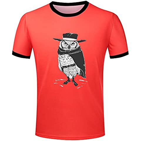 Mens owl warrior the hero ringer t shirt color block tee