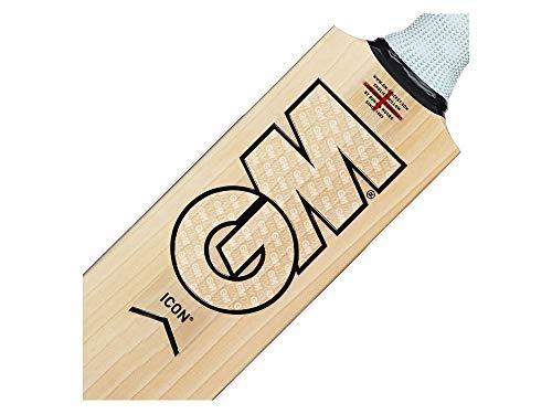 Gunn & Moore G&M Cricket BAT ICON Signature Kricket-Schläger, Holz, Kurzer Griff