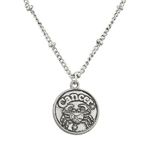 lux-accessories-burnish-silver-cancer-astrological-pendant-charm-necklace