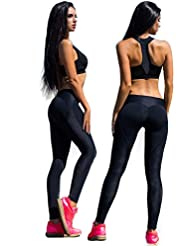 Pantalon de Gym Yoga femmes, coton legging fitness jogging sport stretch pantalon