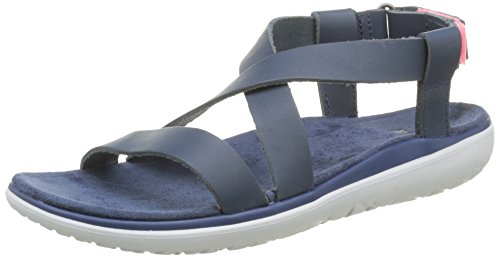 the best attitude 6b854 19abc Teva Terra Livia Lux Damen Sandalen Blau Navy -be-five.de