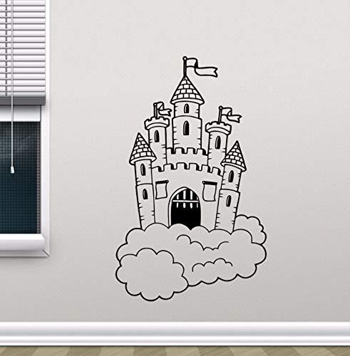 Removable Castle In Clouds Wandtattoo Kinderzimmer Wandbild Kinder Schlafzimmer Dekor Magic Kingdom Vinyl Aufkleber Kinderzimmer Dekor -68x42cm