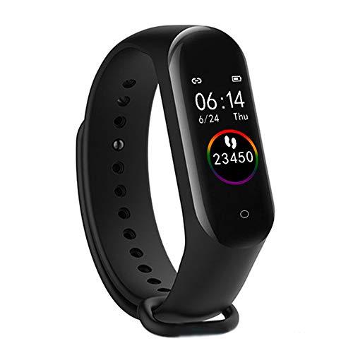 Grww ofd Smart Watch Kinderuhren Kinder Für Mädchen Jungen Sport Armband Kind Armband Smart Band Fitness Tracker Smartwatch Wasserdicht (Black)