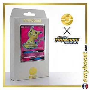 Mimiqui-GX (Mimikyu-GX) 206/214 Full Art - #myboost X Soleil & Lune 8 Tonnerre Perdu - Box de 10 Cartas Pokémon Francés