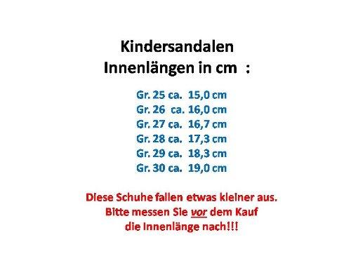 Kinder Trekking Sandalen mit Lederinnensohle, Gr.25-30, braun Braun