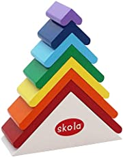 Skola Toys Rainbow Roofs Stack and Nest (Multicolour)