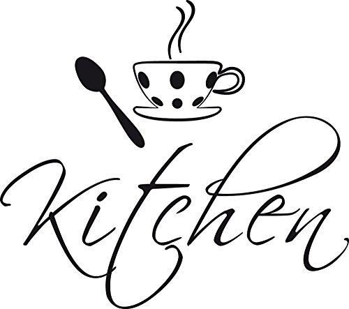 GRAZDesign 780063_57x50_070 Tür-Aufkleber Küche Kitchen Englisch Kaffeetasse   Tattoo für...