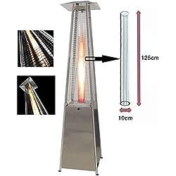 BU-KO Tube de verre de rechange pour le chauffage d'extérieur au gaz de forme pyramidale