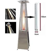 BU-KO Reemplazo del Tubo de Vidrio para el Calentador de Patio de Gas pirámide