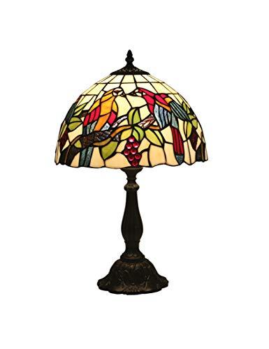 Floral Vintage Stehlampe (KCoob Schreibtischlampe große Obst und Vögel Muster Stehlampe Vintage für Küche)