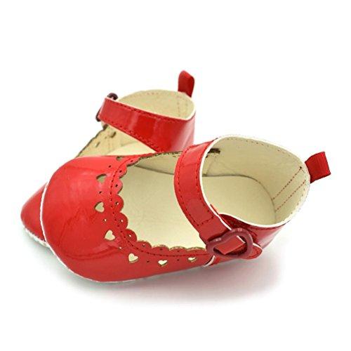 Igemy 1Paar Baby Mädchen Schuhe Fransen Soft Soled Non-Slip Schuhe Schuhe Hollow Love Schuhe Rot