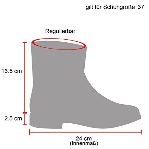 Damen Stiefeletten Profilsohle Worker Boots Leder-Optik Schnürstiefeletten Camouflage Verlours Schuhe 126084 Braun Bernice 39 Flandell