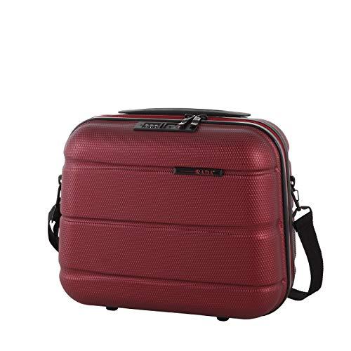 Rada Kosmetikkoffer ABS/13 Beauty Case, Schminkkoffer für Make-up, Kosmetiktasche für Badezimmer und Reise robust und stabil, Kulturbeutel, Hartschale sehr leicht (rot)