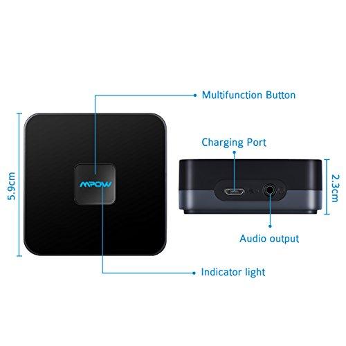 Ricevitore-Bluetooth-41-A2DP-15-Ore-di-Utilizzo-Mpow-Ricevitore-Bluetooth-A2DP-Bluetooth-41-e-Batteria-Incorporata-con-15-Ore-di-Utilizzo-Wireless-Bluetooth-Apparecchiature-Auto-Audio-ad-Alta-Fedelt-A