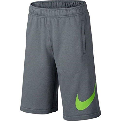 Nike Boys Club Explosion Fleece Swoosh Shorts # 810359-065 (S) (Shorts Fleece Athletic)