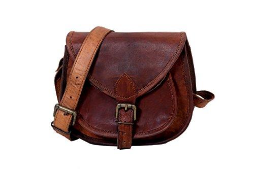 Handmade Genuine Leather Women Satchel Purse Handbag, Rustic Vintage Leather Indiana Jones Satchel Purse – Free Surprise Gift 418MEmE6UJL