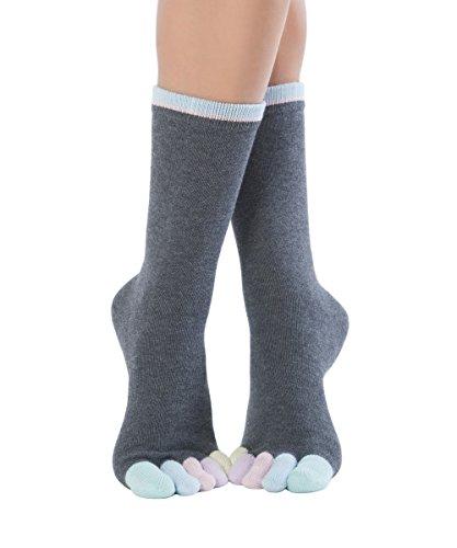 Knitido Rainbows | Calcetines de dedos multicolores para hombre y mujer en algodón 95%, Talla:35-38, Color:Cotton Candy (210)