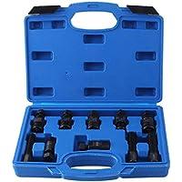 Hand Tool Sets 13pcs Car Steering Wheel Puller Removal Tool Harmonic Balancer Auto Special Disassembly Tools Heavy Duty Crankshaft Gear Repair