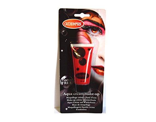 Tube crème maquillage à l'eau Aqua ROUGE déguisement - 38 ml
