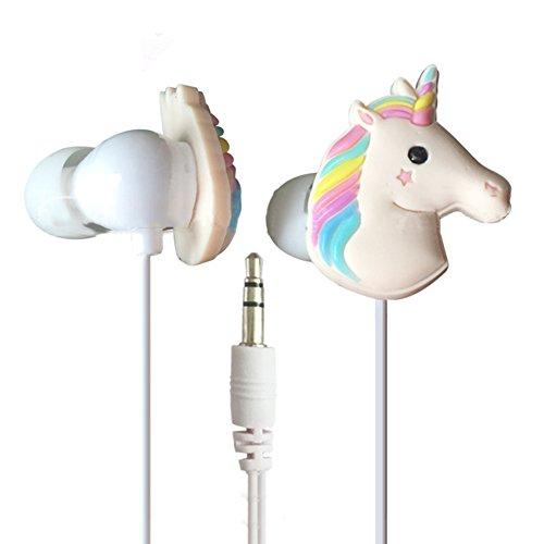 3,5mm Draht Cute 3D Einhorn in-Ear Ohrhörer Kopfhörer für Apple Samsung Multicolor - Cute Cd-player