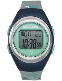 Solus Unisex Digital Watch with LCD Dial Digital Display and Silver Plastic or PU Strap SL-800-012