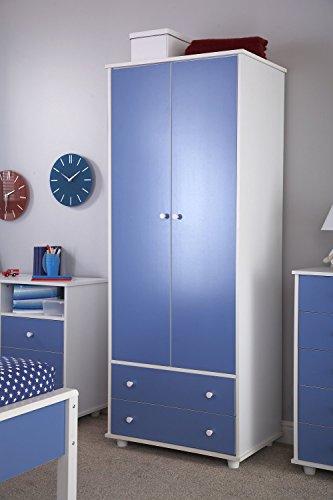 Home source ragazzi altezza blu bianco 2ante bambini mobili per camera da letto