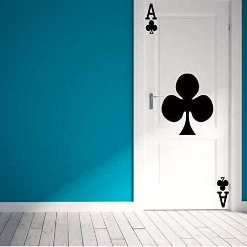Familie Und Küche Kreative Spielkarten Ace Of Clubs Tür Wandaufkleber Diy Schlafzimmer Tür Kunst Wohnkultur Wandvinyl Tapete Wandaufkleber Abziehbilder