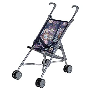 Knorrtoys 12678 - Puppenbuggy Sim - blue flowers